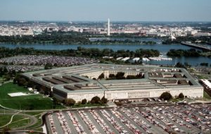 DF-ST-87-06962 	The Pentagon, headquarters of the Department of Defense.  DoD photo by Master Sgt. Ken Hammond, U.S. Air Force.