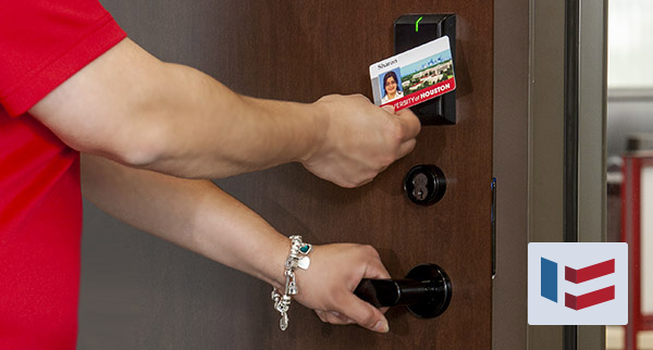 Student and faculty credentials on fob, card or even mobile device.
